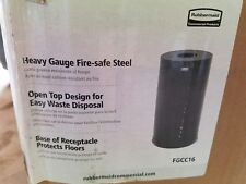 Rubbermaid 15 gal. Round Metallic Series Trash Can w/ Disposal Opening - FGCC16
