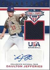 2017 Usa Baseball StarStripe Material Signature Daulton Jefferies Auto/Jersey/99