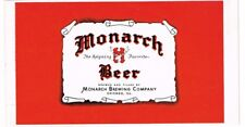 Rare MONARCH BEER Can label Chicago Tavern Trove