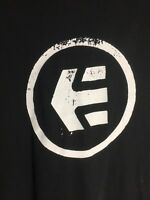 Etnies Tee Shirt Logo Regular Fit Vintage Black Men's Extra Large