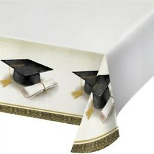 Classic Graduation Plastic Tablecloth Graduation Party Decoration