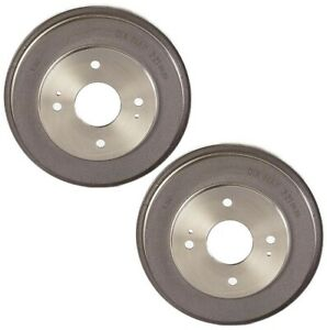 Brembo Pair Set of 2 Rear Brake Drums 4 Lugs 14.6754.10 For Honda Accord '90-'02