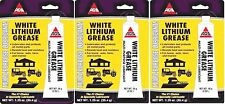 3 AGS WHITE LITHIUM GREASE Multi Use Lubricant Lube AUTO FARM MARINE HOME 1.25 z