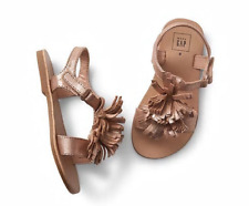 Baby Gap Toddler Girl's Spr. '18 Rose Gold Sparkle Fringe Sandal Shoes Sz 5 NWOT