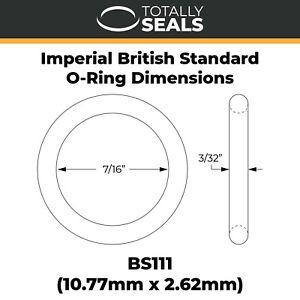"""BS111 Imperial Nitrile NBR O-rings - 7/16"""" Inner Diameter x 3/32"""" Cross Section"""