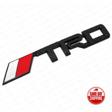 For Toyota Carbon Fiber Style TRD Metal Sport Letter Logo Badge 3D Emblem Black