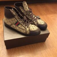 Gucci Authentic High Top Sneakers Shoes Men's Gucci Size 11 (12 US) Beige Ebony