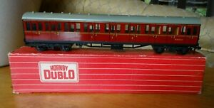 Hornby Dublo Suburban Coach Maroon No. 4084 with original box - used condition