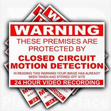 6 x Premises Protected by CCTV MOTION DETECTION Warning Stickers-Security Signs