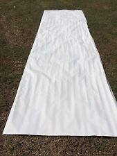 "Dometic  RV Camper Slide Topper Awning Replacement Fabric 8' 7"". White # 93"