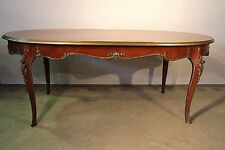 Majestic antique French Louis ormolu marquetry dining table inlay seats 6-8 desk