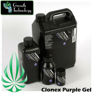 GROWTH TECHNOLOGY CLONEX PURPLE ROOTING CLONING CUTTING VITAMINS HORMONE GEL