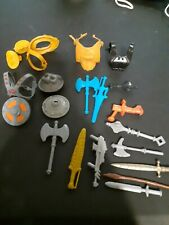vintage MotU He-man Action Figure Parts Accessories Lot,masters of the universe