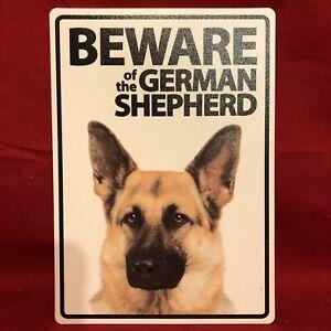 "Beware Of The GERMAN SHEPHERD Sign Plastic A5 8 x 6"" Warning Fence Gate Window"