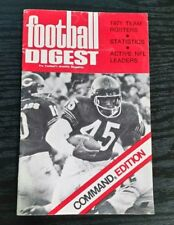 1971 Football Digest CHICAGO BEARS COVER command edition