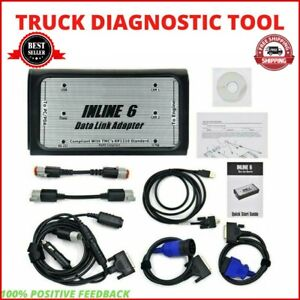 Inline 6 Data Link Adapter Insite V7.62 Cummins Obd2 Truck Scanner Diagnostic