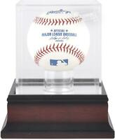 Atlanta Braves Mahogany Baseball Logo Display Case