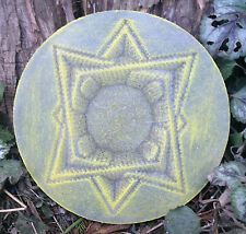 Gothic Pagan Wicca Celtic plaque mold  decorative spiral star mould