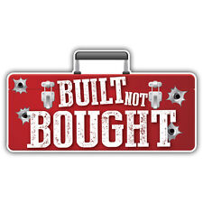 Built not bought sticker toolbox design 125mm x 67mm ratlook hotrod vw jdm