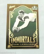2008 RUGBY LEAGUE CENTENARY IMMORTALS  CARD - IM5  GRAEME LANGLANDS, ST GEORGE