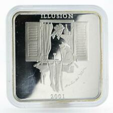 Zambia 4000 kwacha Illusion Elizabeth II silver proof coin 2001