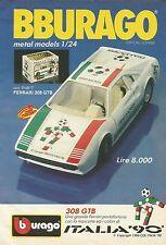 X1177 BBURAGO - FERRARI 308 GTB Italia '90 - Pubblicità 1989 - Advertising