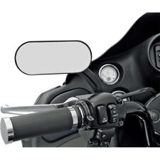"Drag Specialties Flat Black 5"" x 2"" Oval Mirror R-or-L Side Harley Motorcycle 2A"