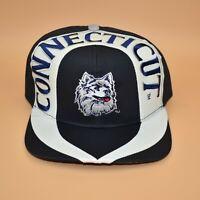 UConn Huskies Connecticut Vintage 90's Twins Enterprise Snapback Cap Hat - NWT