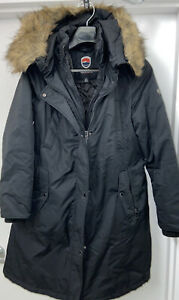 LARGE 1 Madison Expedition Water Resistant Long Insulated Parka w Faux Fur Hood