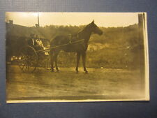 Old 1916 HUB CITY Wisconsin - Horse & Carriage - RPPC - Real Photo POSTCARD