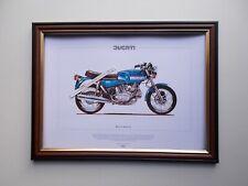 DUCATI 860 GTS MOTOR CYCLING PRINT FRAMED