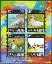 MALDIVES   2014  CLAUDE MONET  SHEET MINT NH