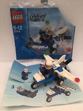 Lego City minifigure  police plane 30018 100% Complete bag instructions 2012