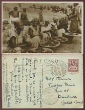 GOLD COAST to DUNKWA SEKONDI S.O REMOVED 1935 PPC REAL PHOTO from LADY HODSON
