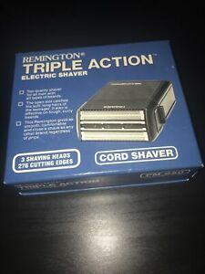 Vintage 1982 Remington Triple Action Electric Shaver PM-850 Made In USA, NEW.