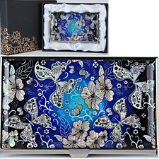 Business Card Case Holder ID Credit Card Case Mother of Pearl Made Korea C1014