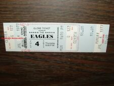EAGLES Unused 1977 GLOBE Concert Ticket PITTSBURGH Hotel California MEGA RARE