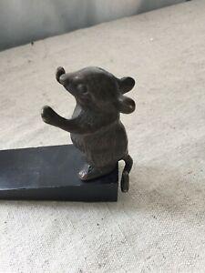 Vintage Bronze Mouse Door Stopper Doorstop Door Jam