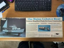 Vintage 1987 Midwest Products Co -Maine Lobster Boat Kit #953 Wood Boat Kit!