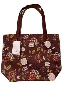 Herschel Supply Co. Mica Floral Tote Bag - Burgundy [NEW]