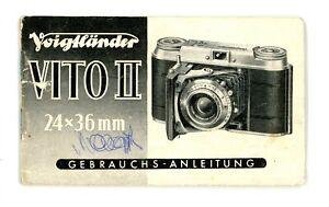 Kamera Bedienungsanleitung VOIGTLÄNDER VITO II 2 User Manual Anleitung (Y2411