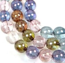 50 Czech Glass Round Beads - Luminous - Multi Luster 6mm