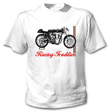 BENELLI 248 CC 1958 INSPIRED - NEW WHITE COTTON TSHIRT ALL SIZES IN STOCK