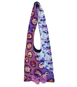 Nintendo Pokemon Fabric Purple / Lilac Bow Pocket Handmade Handbag Bag ~ BNWOT