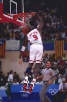 Michael Jordan With The Ball In The Head 8x10 Photo Print