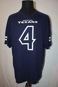 Majestic Houston Texans Blue Mesh Pullover Jersey Size XL DeShaun Watson #4
