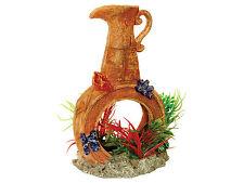 Bote con piedra de aire y plantas Peces Tanque Burbujas Acuario Cueva Ornamento