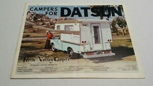 Rare Vintage 1970's Perris Valley Campers For Datsun Truck Catalog Brochure