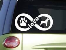 Rottweiler Infinity sticker *H419* 4 x 8.5  inch vinyl dog decal