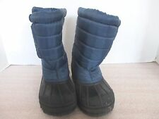 Navy Blue & Black Insulated WINTER BOOTS~Boys 13